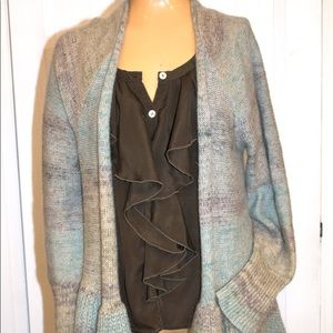 Anthropologie Knitted Knotted Cody Peplum Cardi
